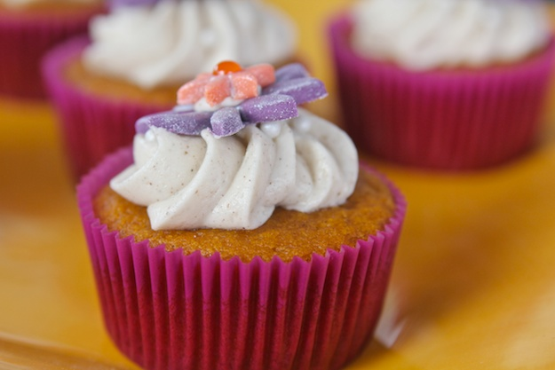 Pumpkin cupcake with Chai spice frosting