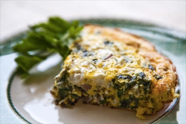 Spinach and Turkey Frittata