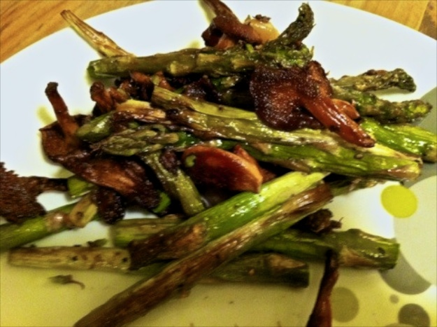 Asparagus and Shitake Mushrooms from Rebecca Martin, Fairway Market