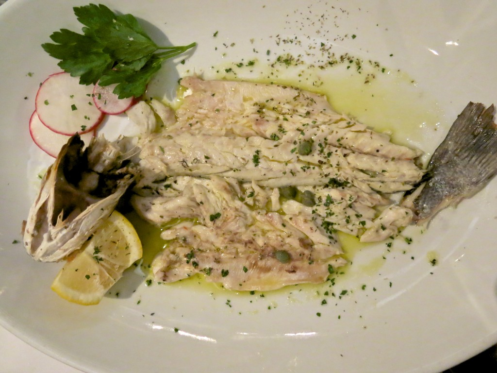 Grilled Branzino over Horta