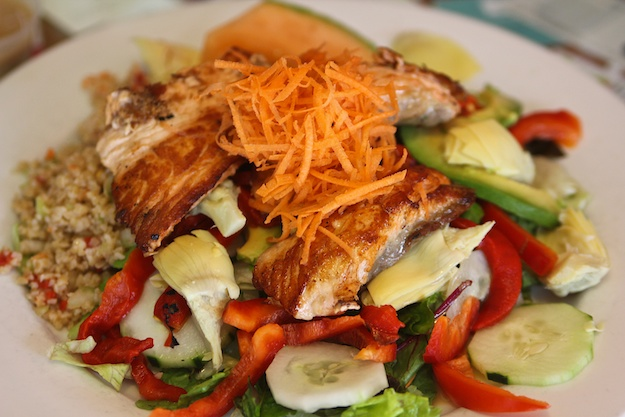 Malibu Salad with Grilled Salmon