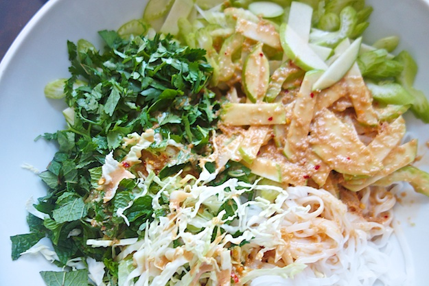 Cool and Green Rice Noodle Salad
