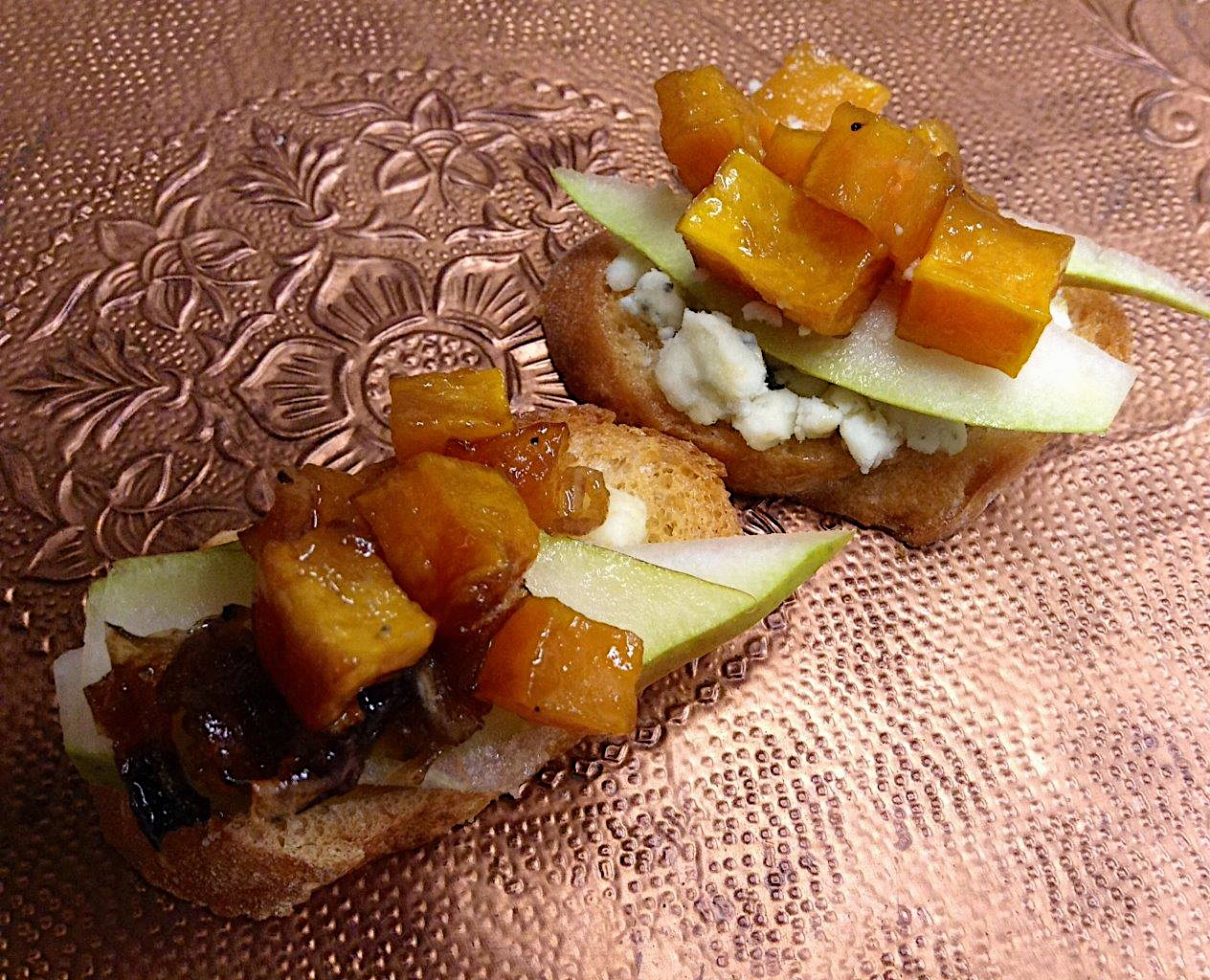 Pear and Butternut Squash Bruschetta