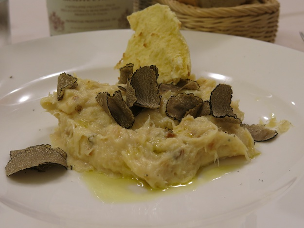 baccala and shaved black truffles