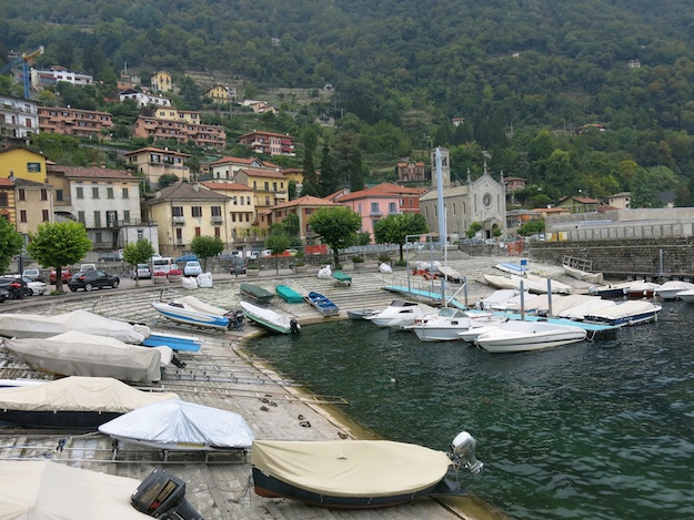 boat basin, Argegno on Lake Como