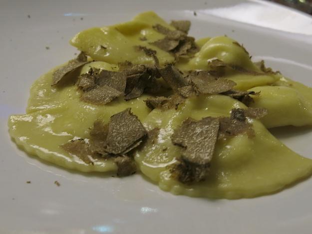 ravioli with truffles
