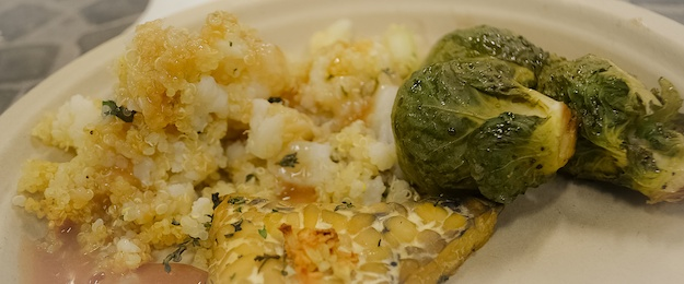 quinoa brussels, tempeh