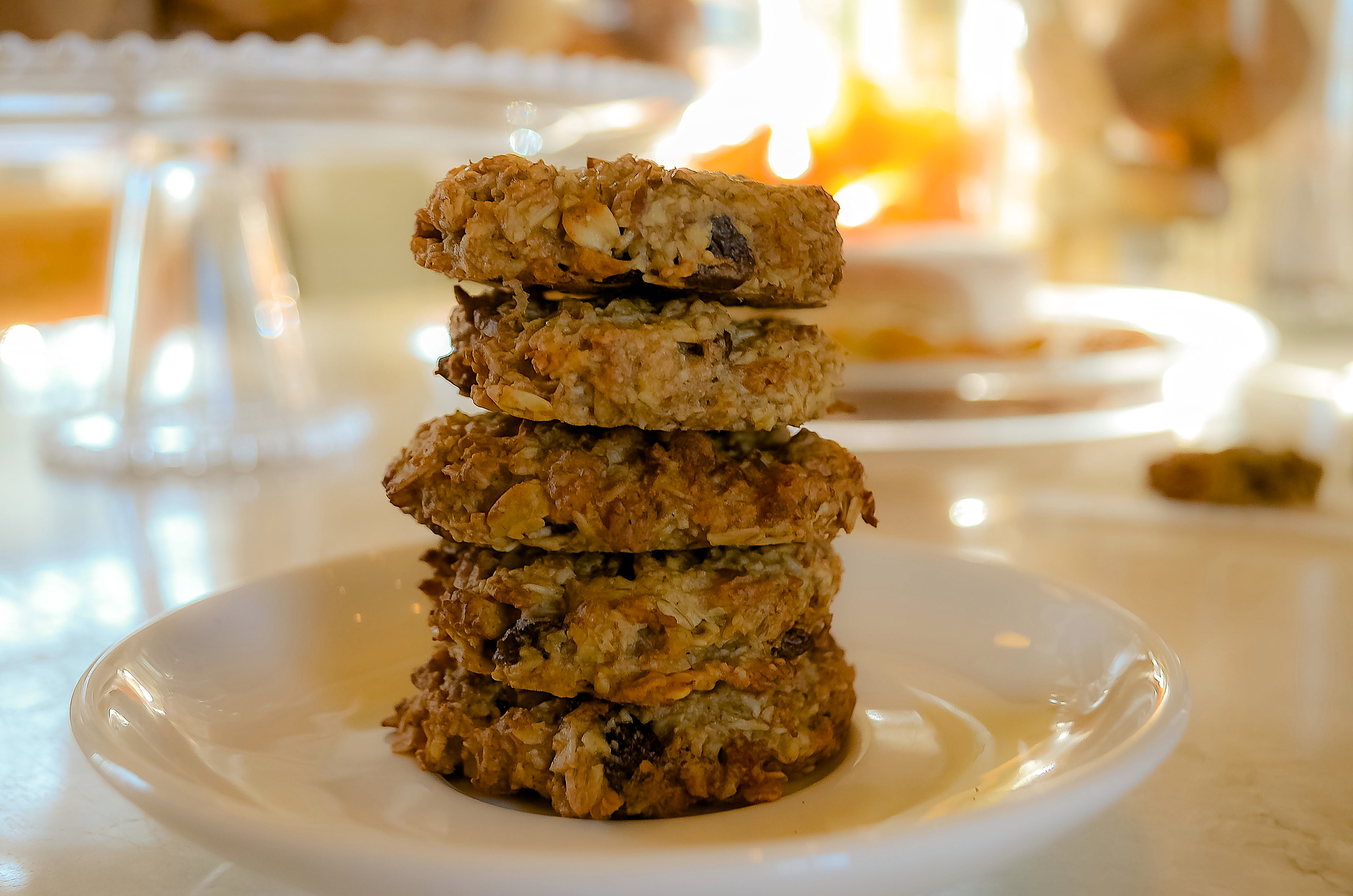Healthy Banana Nut Oatmeal Cookies