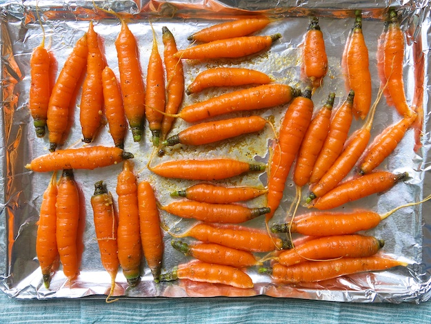 Roasted Local Carrots