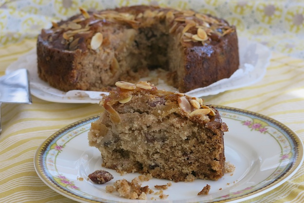 Cranberry Pear Almond Tea Cake