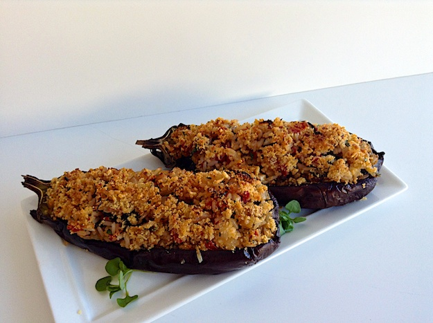 Greek Stuffed Japanese Eggplant