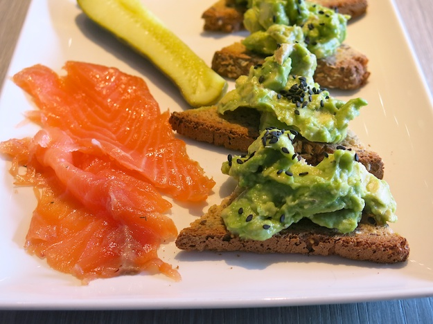 The Granola Bar Avocado, GF Toast with gravlax side