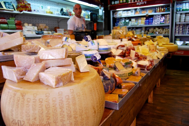wide array of cheeses