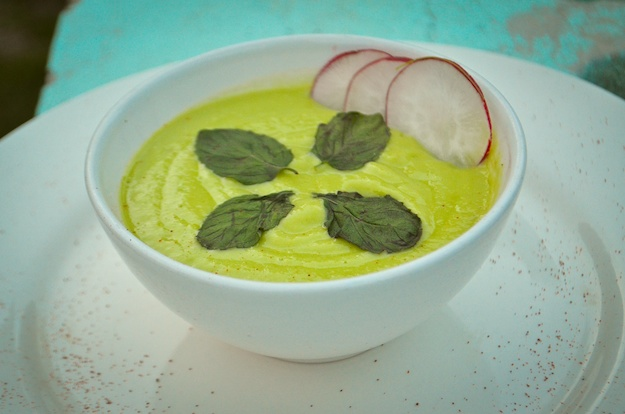Chilled Avocado- Cucumber Soup