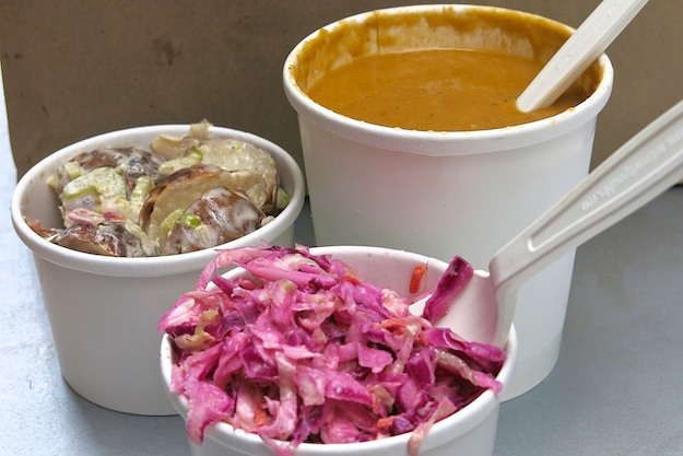 roasted red bliss, cabbage slaw, summer medley chilled soup