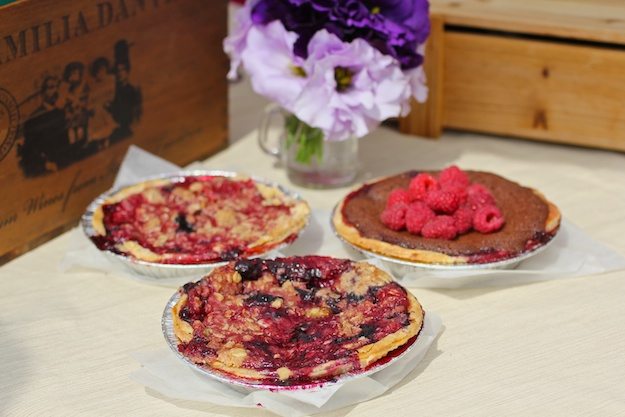 Mid-summer mixed berry pies from Huckleberry Artisan Pastries