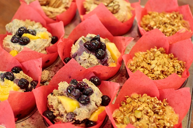 Blueberry Peach Muffins- Gluten-Free, Paleo and Vegan