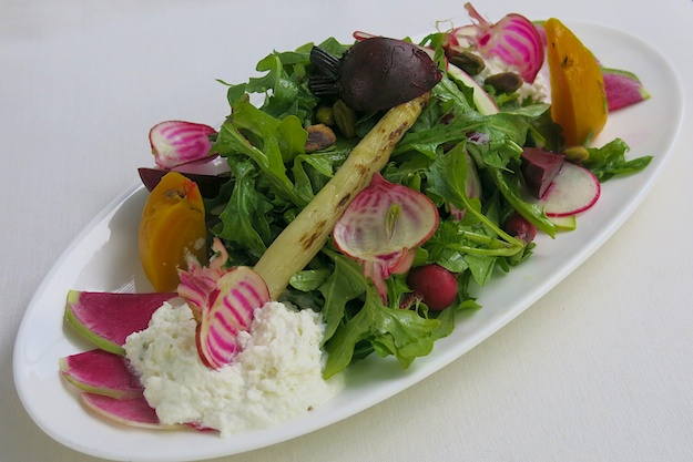 Plato's Beets and Radishes with Whipped Goat Cheese