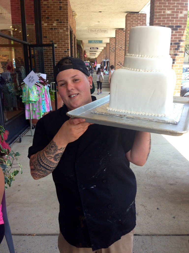 Julie's wedding cake was lovingly baked in house and carefully transported to NYC by Chef Jes.