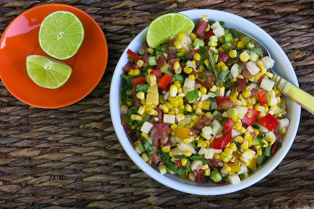 Grilled Corn Salad with Jicama