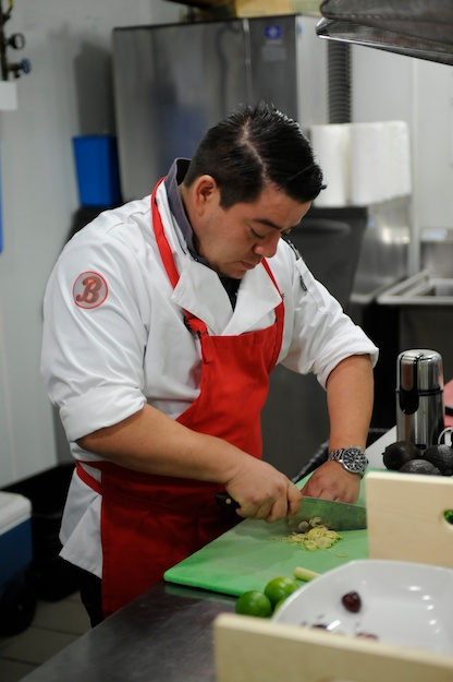"TOP CHEF -- ""Boston's Bravest and Finest"" Episode 1202 -- Pictured: Katsuji Tanabe -- (Photo by: David Moir/Bravo)"