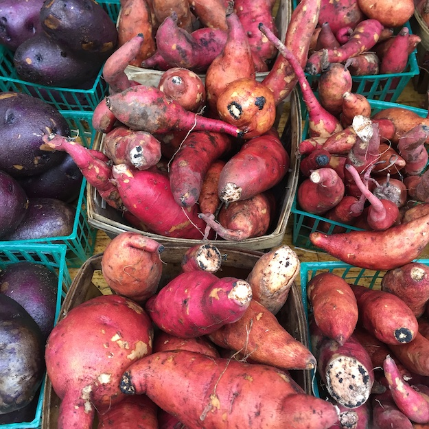 Sweet potatoes: NOT the prettiest girls at the market