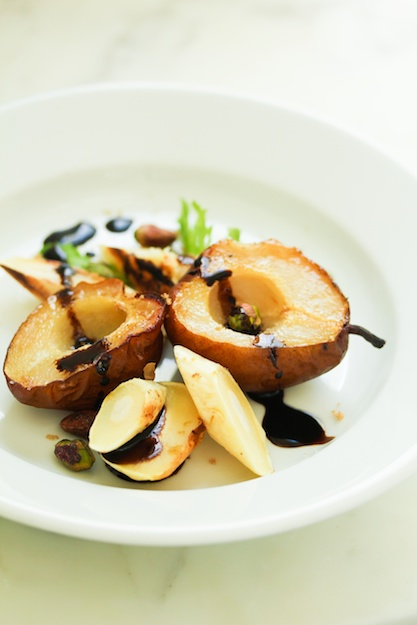 Roasted Pear and Parsnip Salad with Spiced Balsamic & Brown Sugar Glaze
