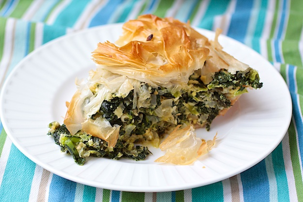phyllo kale and feta