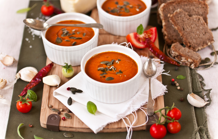 Roasted Tomato & Harissa Soup; photo: Leetal Arazi