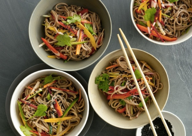 Photo: Marcia Selden Catering- Chilled Sesame Noodles using Shirataki rice noodles