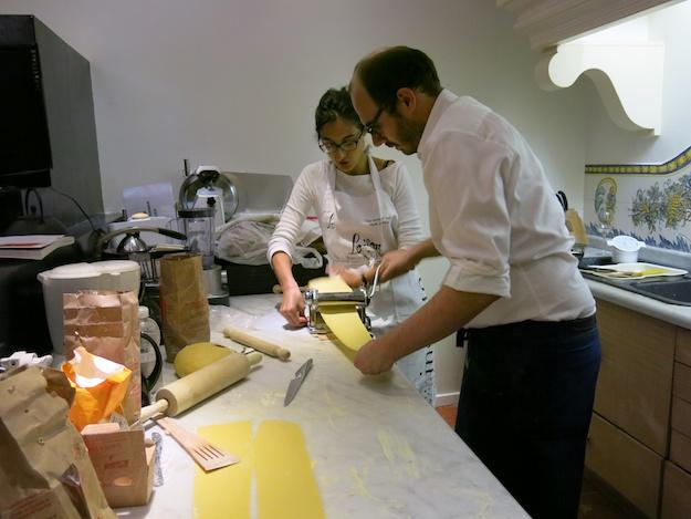 Photo: Liz Rueven-making pasta in Piedmonte, Italy