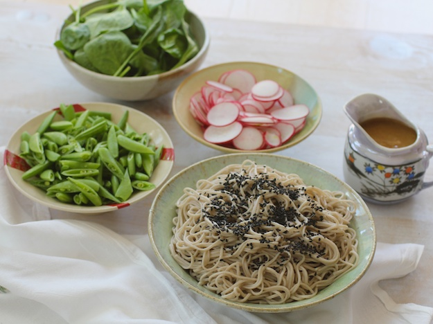 Soba Noodle Salad with Miso Vinaigrette