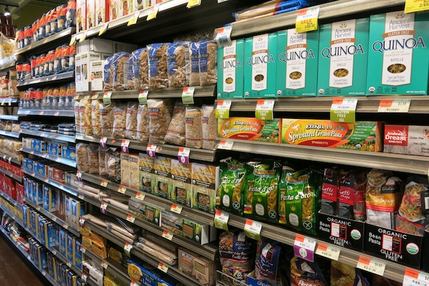 Photo: Liz Rueven; Pasta aisle at Whole Foods, CT