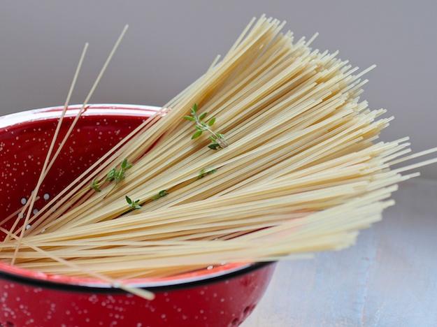 Photo: Liz Rueven; brown rice gluten-free spaghetti