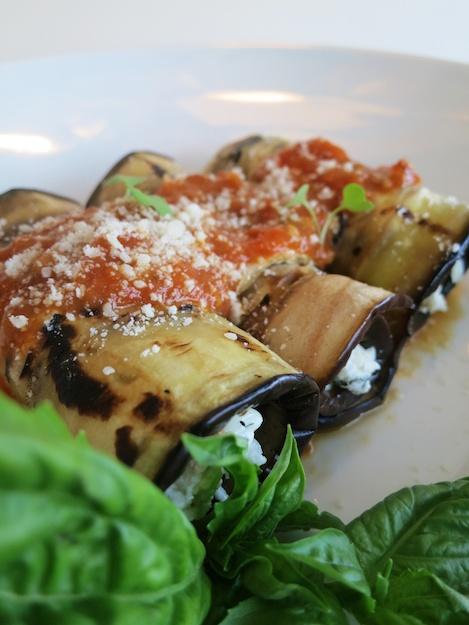 Eggplant Rollatini the Healthier Way