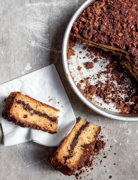 Photo: Kate Sears; Cinnamon-Chocolate Pound Cake with Greek Yogurt
