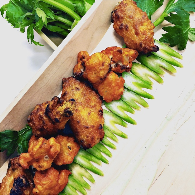 Marcia Selden chicken wings and cauliflower bites