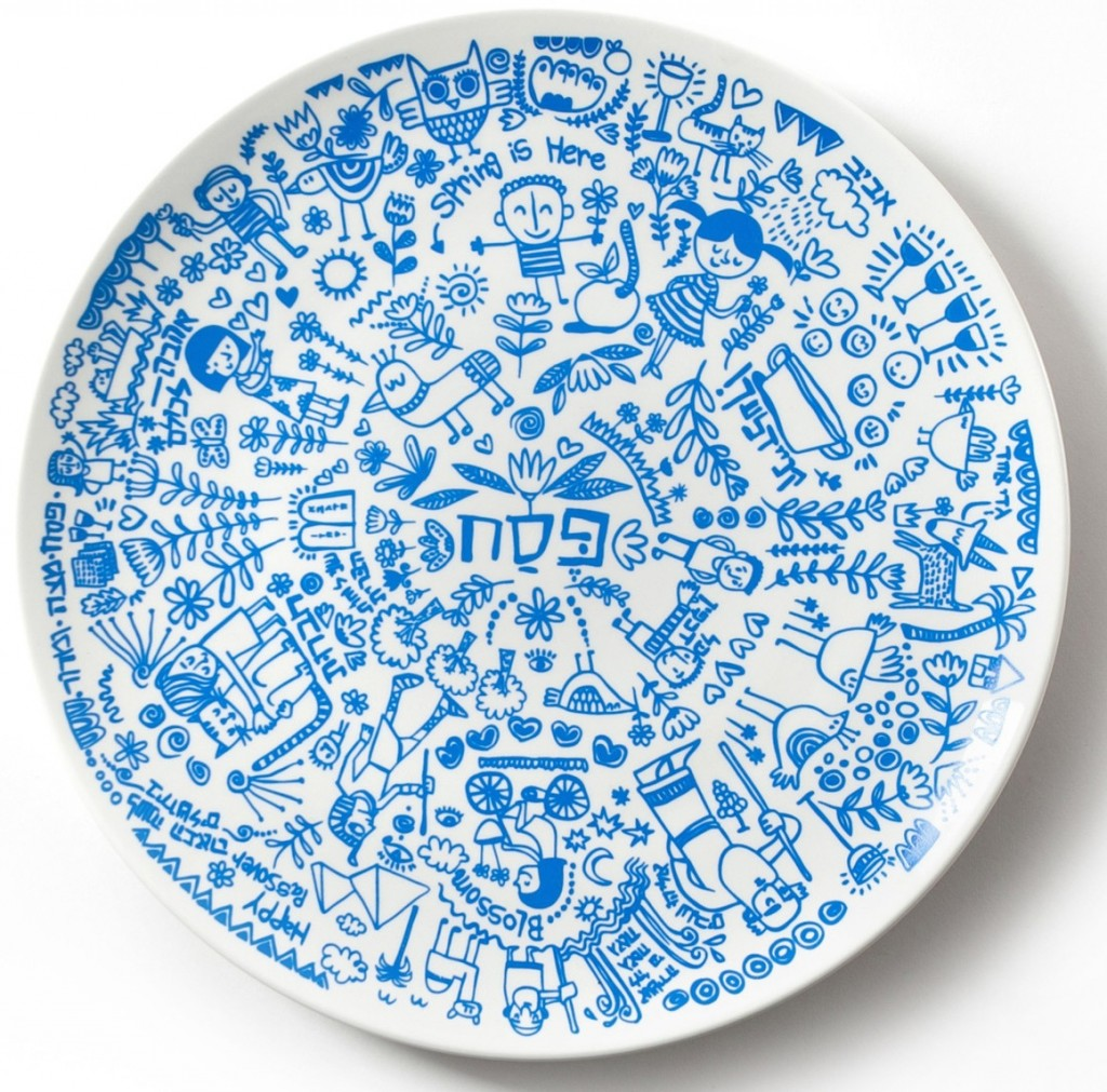 Seder Plate Giveaway from artist, Barbara Shaw.