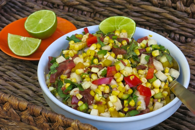 Early Autumn Corn Salad with Jicama