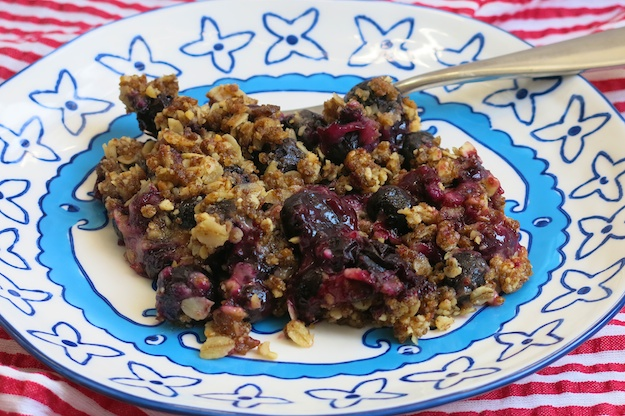 Blueberry Crisp on July 4th