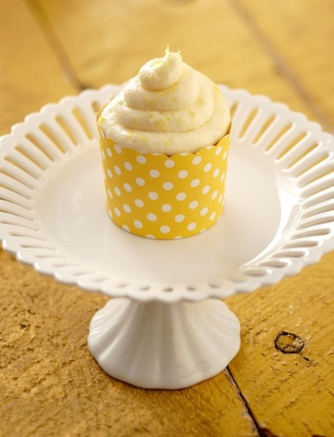 Celebrate with These Hi-Hat Lemon Yogurt Cupcakes