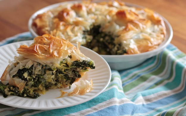 Easy Entertaining with Kale Phyllo Pie