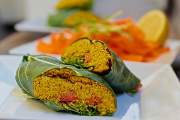 Seasonal Snippet: Collards & Nutty Pate Wrap