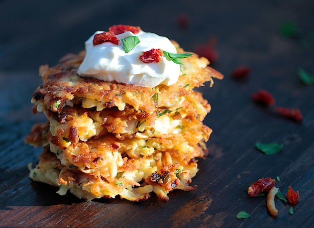 Cheesy Breakfast Latkes Made Easy