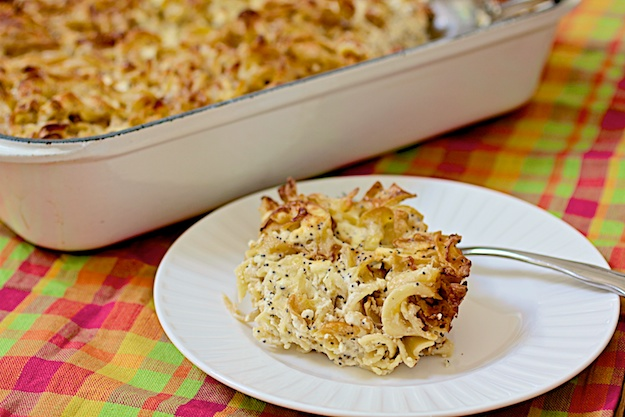 Caramelized Onion and Poppy Seed Kugel