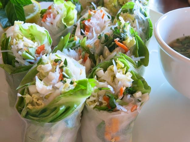 Crisp, Cool and Impressive Veggie Spring Rolls