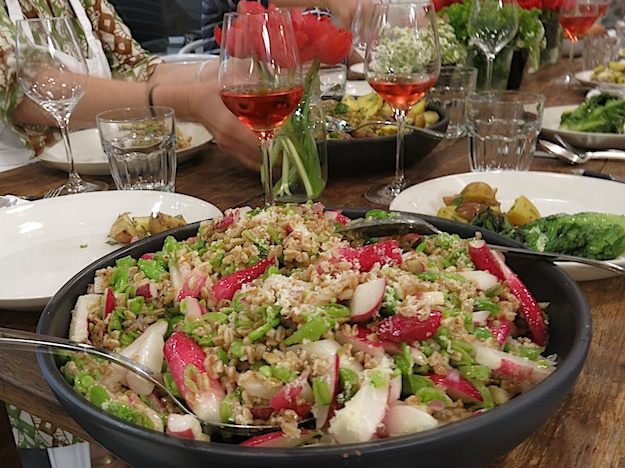 Toasted Farro Salad with Summer Veggies