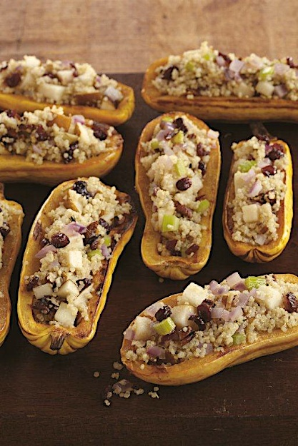 Quinoa Filled Squash Boats for Passover