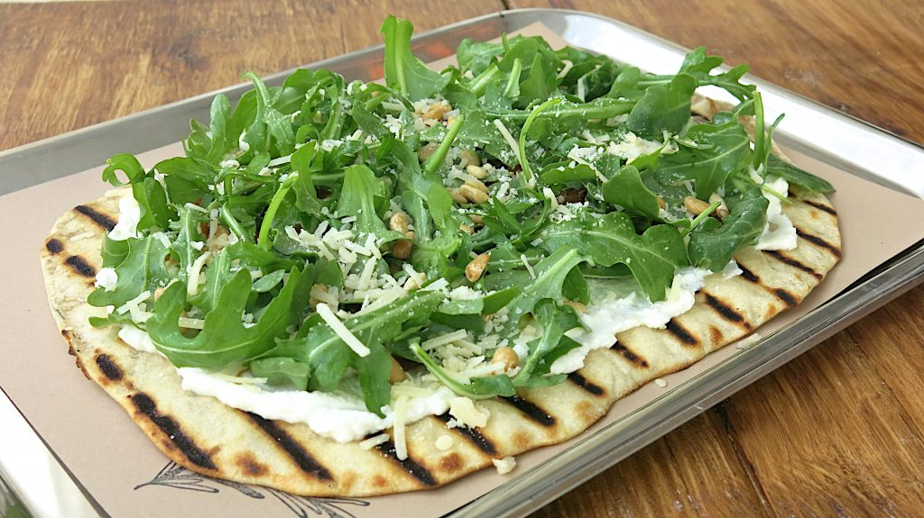 flatbread arugula top