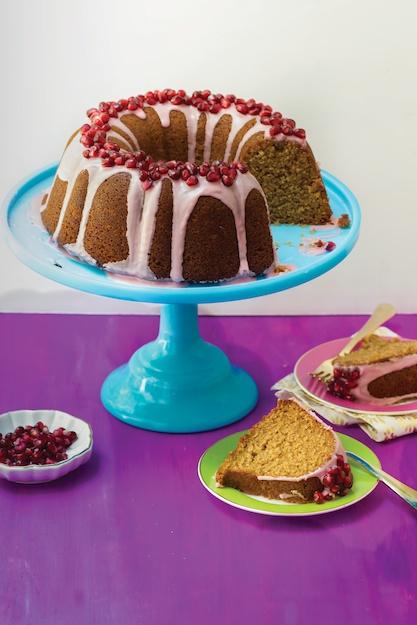 rosh hashanah honey pomegranate cake amy kritzer jewish baking